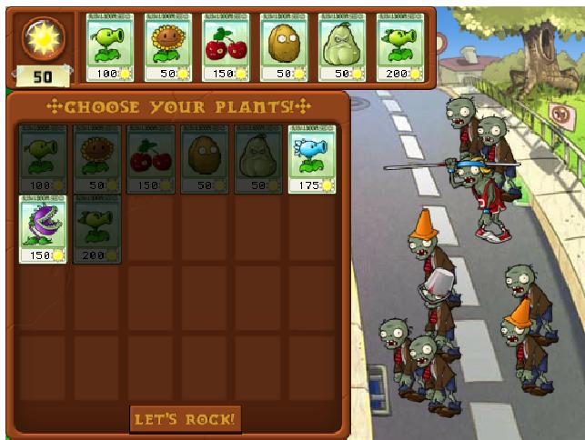 Elementos de gamificación en Plants vs Zombies