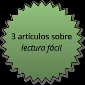 logro - 3 artículos en sobre lectura fácil