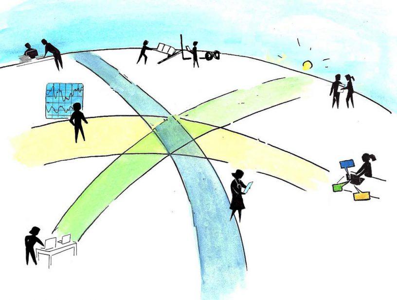 imagen que representa los caminos de los datos