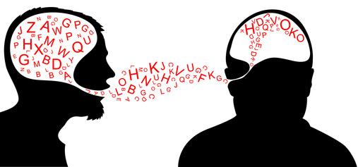 una persona habla y la otra escucha