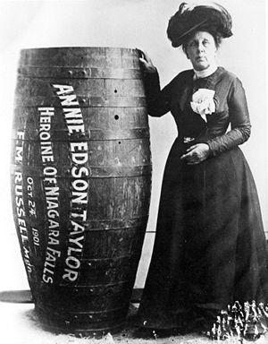 Annie Edison Taylor y su barril