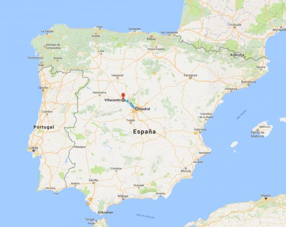 Madrid a Villacastín