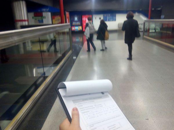 Trabajo de campo sobre accesibilidad cognitiva en el metro de Madrid