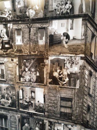 montaje de edificio seccionado Robert Doisneau