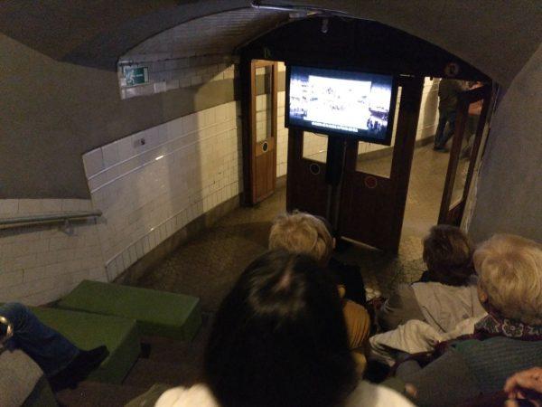 vídeo histórico en la exposición andén 0 del metro de madrid
