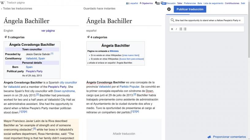 Cómo traducir entradas de Wikipedia