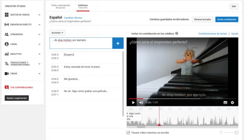 ¿Cómo subtitular vídeos de YouTube?