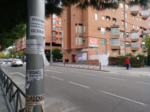 cruce y nombre de calles lejos