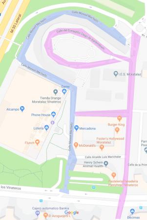 calles con el mismo nombre