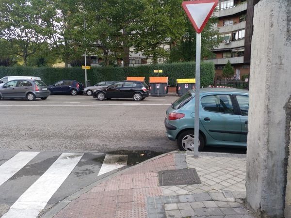 esquina de la calle