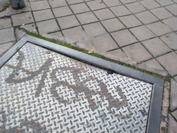 pavimento en mal estado