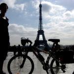 torre eifeel, olga y bici