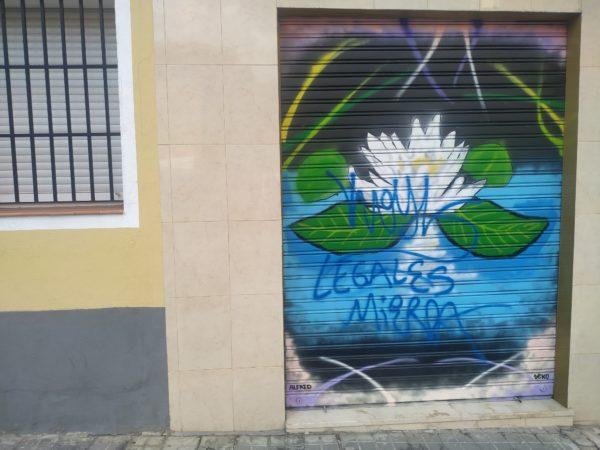 flor de loto y encima las letras legales mierda