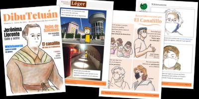 collage con 4 páginas de dibutetuán