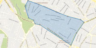 zona mapeada de valdeacederas